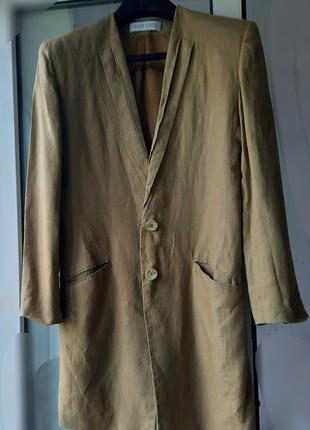Винтажное льняное пальто блейзер   льняной bernd berger