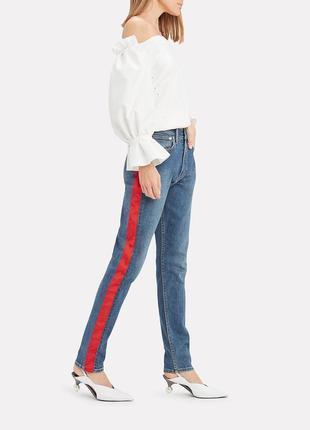 Крутые джинсы мом с красной полоской по бокам размер ххl