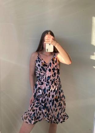 Плаття на запах. платье на запах в анималистический принт6 фото