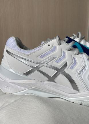 Кроссовки теннисные asics gel resolution 7 белые с серым silver white9 фото