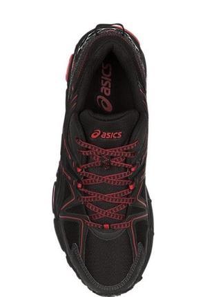 Кроссовки мужские беговые чёрный красный asics gel-kahana 8 original black red6 фото