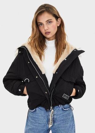 Оверсайз куртка bershka