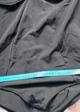 Коректирующий чёрный боди комбидрес с утяжкой утягивающее бельё батал баталити 110e5 фото