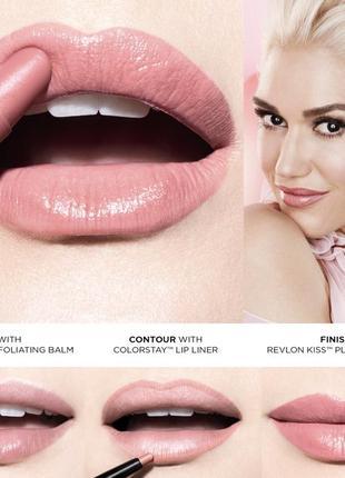 Крем-блеск revlon kiss plumping для увеличения объема губ 505-apricot silk