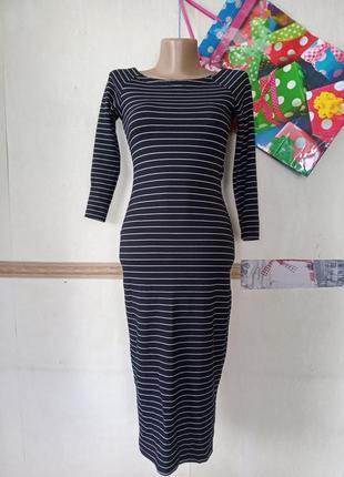 Платье в полоску zara р.s1 фото