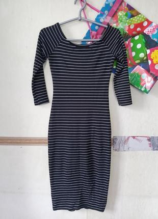 Платье в полоску zara р.s2 фото