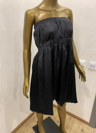 Базовое вечернее шифоновое шелковое платье3 фото