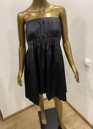 Базовое вечернее шифоновое шелковое платье2 фото
