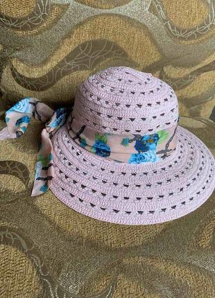 Милая шляпка на лето 🌸☀️💐 пляж, комфорт в солнечную погоду 👑🌈