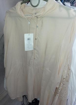 Блуза с вышивкой 48/50р2 фото