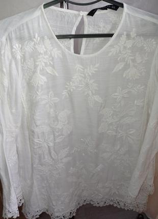 Нежная вышитая блуза от zara 38р1 фото