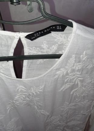 Нежная вышитая блуза от zara 38р4 фото