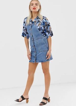 Тренд джинсовий сарафан monki плаття джинс джинсовый платье