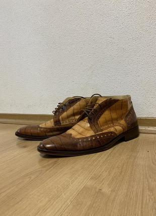 Мужские туфли ручной работы из кожи крокодила giorgio1958 italy