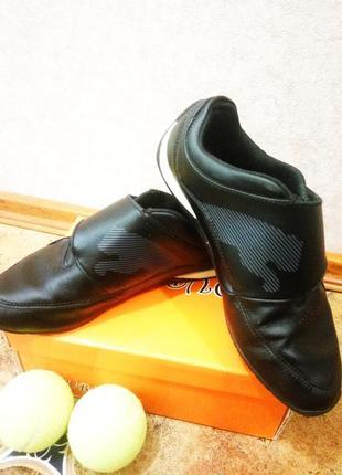 Кроссовки puma (оригинал) кожа sport lifestyle (мокасины,кеды) р.37 без шнурков-на липучке