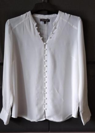 Белая рубашка блуза из вискозы alice bizous2 фото