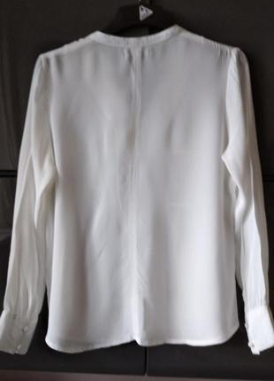 Белая рубашка блуза из вискозы alice bizous6 фото