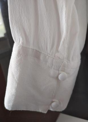 Белая рубашка блуза из вискозы alice bizous7 фото