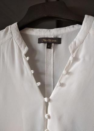 Белая рубашка блуза из вискозы alice bizous5 фото