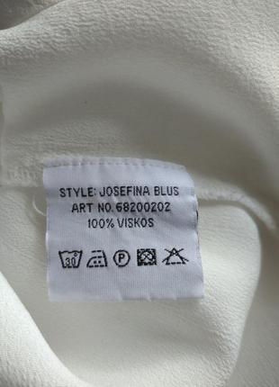 Белая рубашка блуза из вискозы alice bizous9 фото