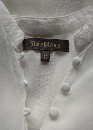 Белая рубашка блуза из вискозы alice bizous8 фото