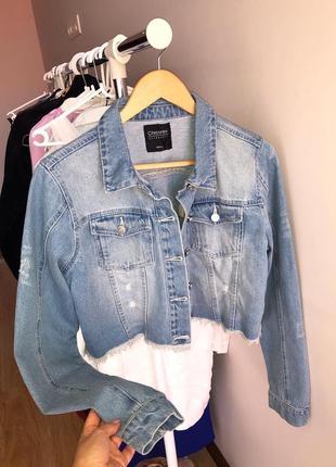 Джинсовый пиджак1 фото