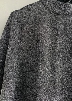 Срібне плаття вільного крою з люрексом na-kd7 фото