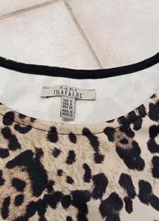Zara mini oversize платье принт леопард ❤️🤍❤️3 фото