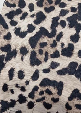Zara mini oversize платье принт леопард ❤️🤍❤️4 фото
