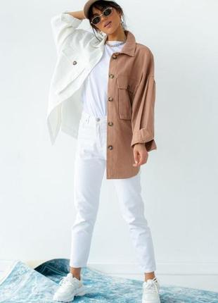 Двухцветная куртка-рубашка