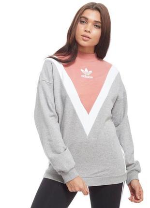 Світло-сірий спортивний світшот від adidas свитшот толстовка худи батник кофта оригинал1 фото