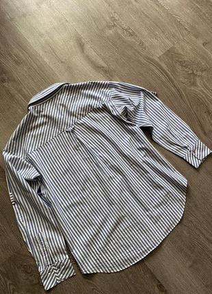 Стильная рубашка от zara в полоску7 фото