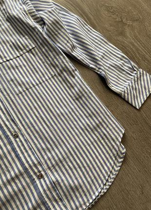 Стильная рубашка от zara в полоску5 фото
