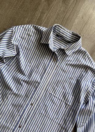 Стильная рубашка от zara в полоску3 фото