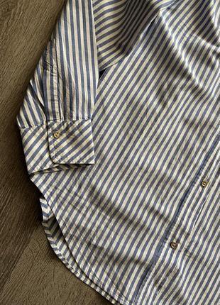 Стильная рубашка от zara в полоску6 фото