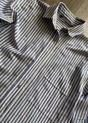 Стильная рубашка от zara в полоску4 фото