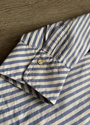 Стильная рубашка от zara в полоску9 фото