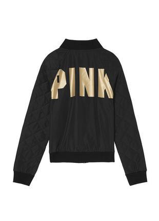 Victorias secret бомбер ветровка куртка victoria's secret pink виктория сикрет