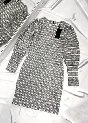 Трикотажное платье с объемными рукавами reserved, размер хс