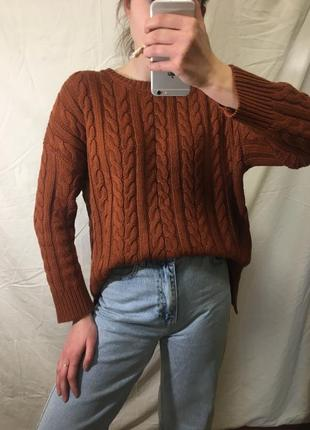 Базовый вязаный свитер оверсайз