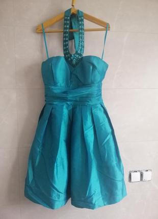 Платье коктейльное junker (бирюзовое)
