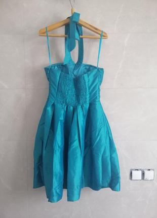 Платье коктейльное junker (бирюзовое)2 фото