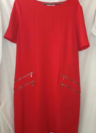 Платье свободного кроя с молниями размер 14