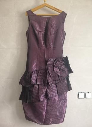 Платье фиолетовое с болеро