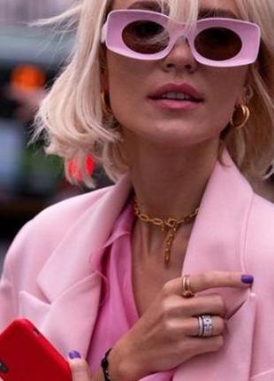 Женские квадратные солнцезащитные ретро очки (в наличии 5 цветов!)