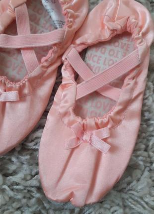 Красивые розовые чешки для тянцев/гимнастики ,h&m, p.26-277 фото