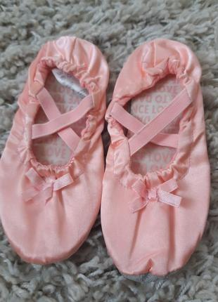 Красивые розовые чешки для тянцев/гимнастики ,h&m, p.26-278 фото