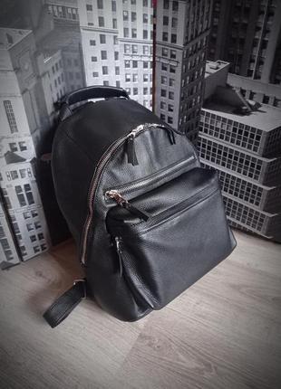 Стильный кожаный рюкзак из оленьей кожи