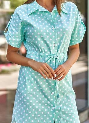 Платье лён2 фото