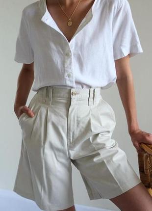 Широкие шорты винтаж высокая посадка